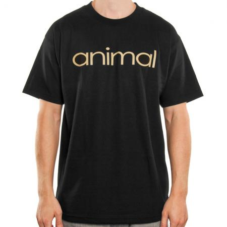 T-Shirts Animal Wordmark L Black