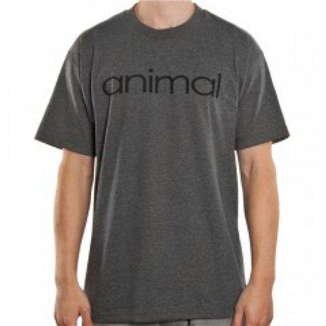 T-Shirts Animal Wordmark Gray M