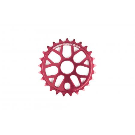 Mission Nexus red 25T sprocket