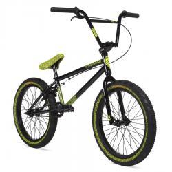 Велосипед BMX STOLEN OVERLORD 2020 20.25 черный с отражающим желтым