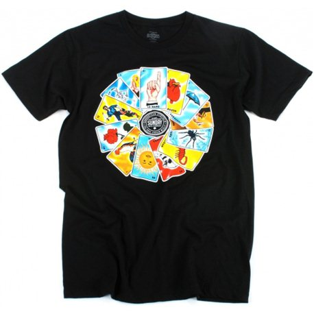 T-Shirts Sunday Bad Card L Black