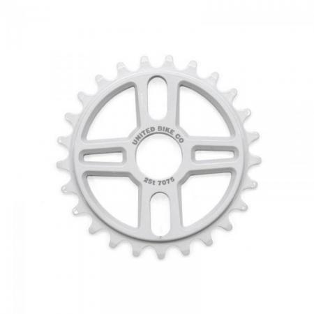 United Squad 25T white Sprocket