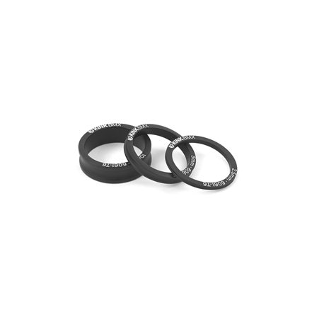 KINK Spacer Kit 3 Pcs. 2.5. 5. 10 Matte Black Headset Stack Spacer Kit